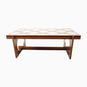 Mid-Century Danish Rosewood & Tile Coffee Table, 1970s