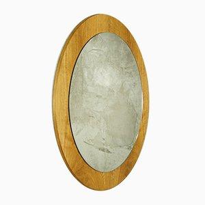 Mid-Century Danish Round Wall Mirror, 1960s
