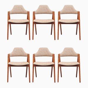 Esszimmerstühle von Kai Kristiansen, 1970er, 6er Set
