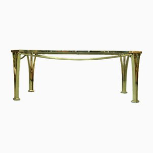 Hollywood Regency Italian Brass Coffee Table, 1970s