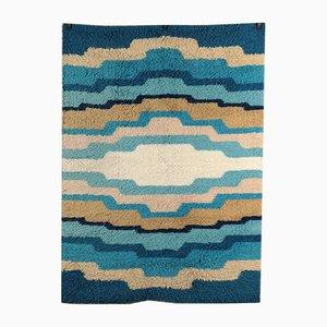 Vintage Shaggy Teppich mit Wellenmuster