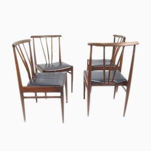 Esszimmerstühle aus Palisander von AWA Meubelfabriek, 1970er, 4er Set