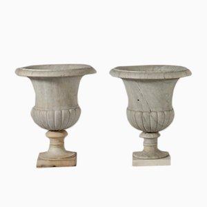 Jarrones antiguos de mármol. Juego de 2