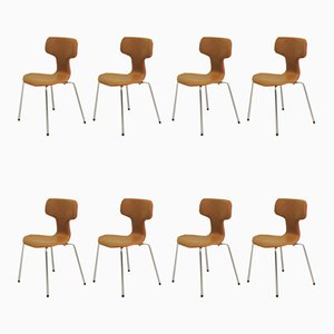 T Chairs or Hammer Chairs by Arne Jacobsen for Fritz Hansen, 1960s, Set of 8