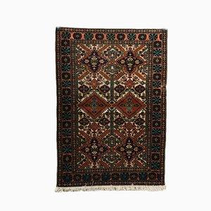 Handgefertigter Teppich aus Wolle, Seide & Baumwolle, 1980er