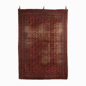 Türkischer Vintage Teppich aus Baumwolle & Wolle