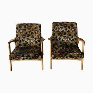Nordische Sessel mit Gestell aus Eiche, 1960er, 2er Set