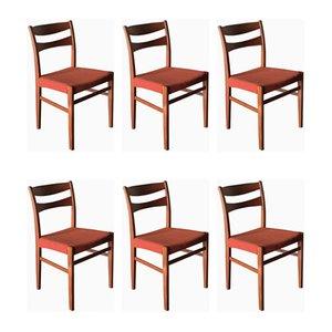 Schwedische Esszimmerstühle aus Teak, 1960er, 6er Set