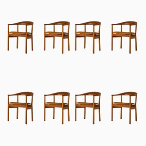 Mahogany Tokyo Dining Chairs by Carl-Axel Acking for Nordiska Kompaniet, 1960s, Set of 8