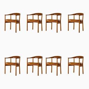 Tokyo Esszimmerstühle aus Mahagoni von Carl-Axel Acking für Nordiska Kompaniet, 1960er, 8er Set