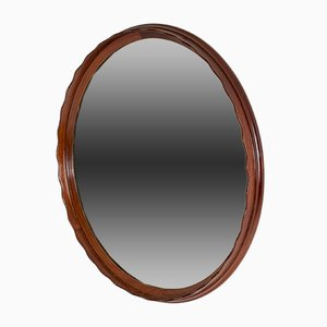 Swedish Mahogany Wall Mirror, 1950s