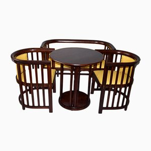 Antique Art Nouveau Living Room Set by Josef Hoffmann for J&J Kohn, 1910s