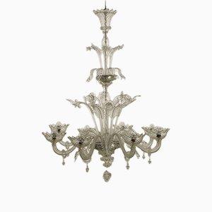 Lampada da soffitto antica in vetro di Murano