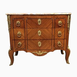 Antique French Kingwood and Marble Commode