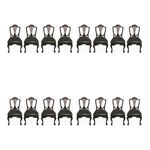 Antike Hepplewhite Esszimmerstühle, 16er Set