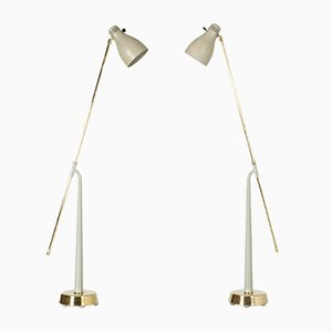 Floor Lamps by Hans Bergström for Ateljé Lyktan, 1950s, Set of 2