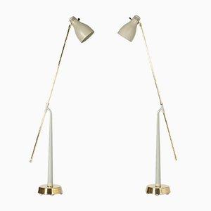 Lámparas de pie de Hans Bergström para Ateljé Lyktan, años 50. Juego de 2