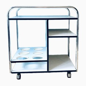 Mid-Century Chrome Serving Bar Cart, 1960s