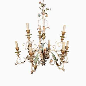 Antique Lacquered Chandelier Ceiling Lamp
