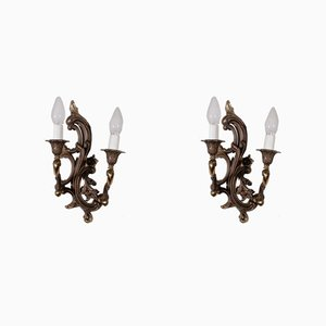 Antique Sconces, Set of 3