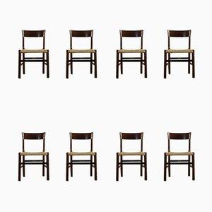 Mid-Century Stühle aus Palisander von Tonon, 8er Set