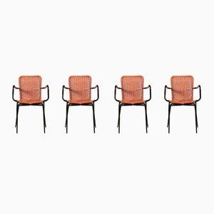 Gartenstühle aus Kunststoff, 1960er, 4er Set