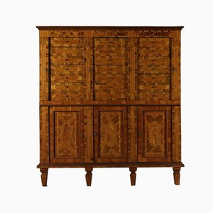 Antique Italian Inlaid Maple Dresser