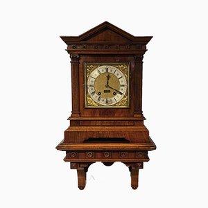 Reloj de repisa victoriano antiguo de nogal