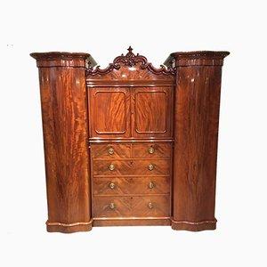 Armoire Victorienne Antique en Acajou