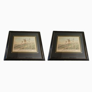 Antique Hunting Etchings by Alken, Set of 2