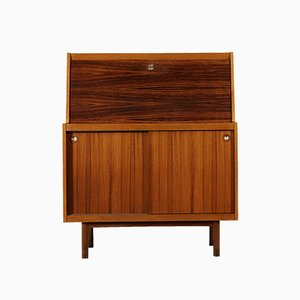 Drop-Leaf Cabinet in Teak Veneer and Rosewood, 1960s