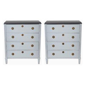 Antique Gustavian Dressers, Set of 2