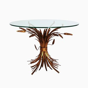 Tavolino Regency con spighe dorate di Hans K