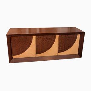 Quarti di Luna Rosewood & Parchment Dresser by Luciano Frigerio for Desio, 1976
