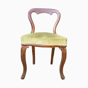 Antique Balloon Back Chair On Cabriole Legs, 1800s