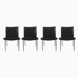 Airport Lounge Chairs in Black by Hans J. Wegner for A.P. Stolen, 1960s, Set of 4