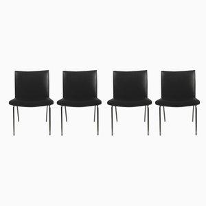 Schwarze Airport Stühle von Hans J. Wegner für A.P. Stolen, 1960er, 4er Set