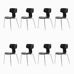 T oder Hammer Chairs von Arne Jacobsen für Fritz Hansen, 1960er, 8er Set
