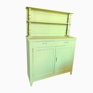 Vintage French Lime Green Farmhouse Buffet, 1920s