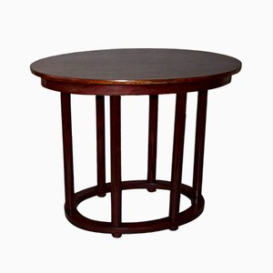Antique Oval Side Table by Josef Hoffmann for Thonet, 1910s