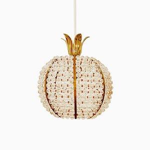 Lámpara colgante en forma de pina de Emil Stejnar para Rupert Nikoll, años 60