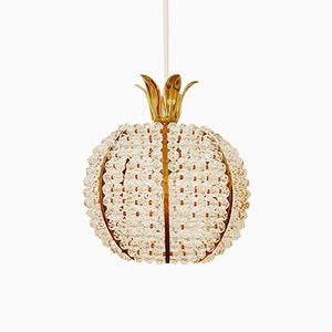 Pinaeapple-Shaped Pendant Lamp by Emil Stejnar for Rupert Nikoll, 1960s