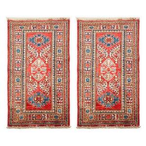 Tappeti Kazak annodati a mano in lana, anni '70, set di 2