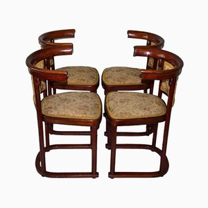 Antique Art Nouveau Dining Chairs by Josef Hoffmann for Thonet, 1910s, Set of 4