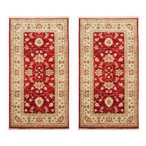Alfombras paquistaníes de lana tejida a mano, años 80. Juego de 2