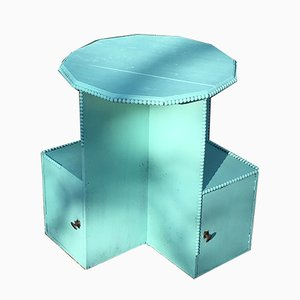 Vintage Turquoise Side Table, 1920s