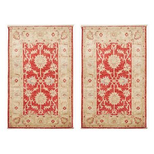 Pakistani Hand-Knotted Wool Carpets, 1980s, Set of 2