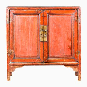 Red Lacqured Cabinet from Ningbo, 1920s