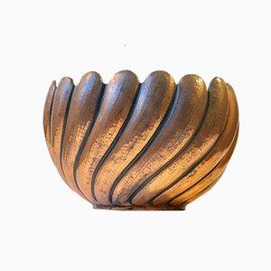Macetero alemán Art Déco de cobre, años 30