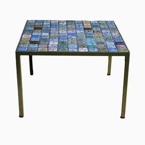 Mesa de centro con mosaico de Louis van Teeffelen para WéBé, años 60